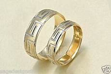 his hers 14k gold mens womens matching versace greek key wedding band rings ebay