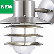 blooma tanakee silver effect mains outdoor wall light outdoor walls outdoor wall lighting