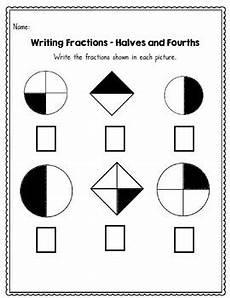 fraction worksheets half 3953 beginning fractions halves thirds and fourths 45 no prep worksheets