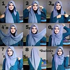 Cara Memakai Jilbab Segi Empat Sederhana Dan Simpel