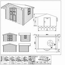 gartenhaus blockbohlenhaus donau 380 x 280 cm 28 mm ebay