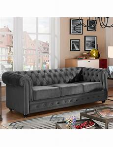 Sofa 171 Chesterfield 187 Grau