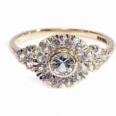 victorian style cluster diamond ring wedding ring engagement ring diamond cluster ring