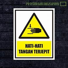 Jual X2 Sticker Safety Sign K3 Keselamatan Kerja Hati Hati