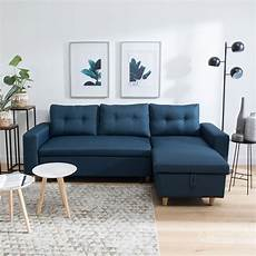 Canap 233 Convertible Scandinave 3 Places Bleu Wade