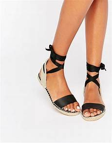 new look new look espadrille tie up flat sandal