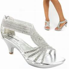 Silver Shoes For Wedding Low Heel