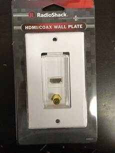 Tv Plate 1 Pc Radioshack Hdmi Coax Tv Decorator Wall Plate Cover