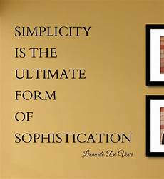 simplicity is the ultimate form of sophistication leonardo da vinci vinyl wall art decal sticker