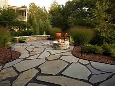 Flagstone Patio With And Patio Design Flagstone Patio