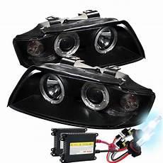 2005 audi s4 headlights hid xenon 2002 2005 audi a4 s4 eye halo projector headlights black