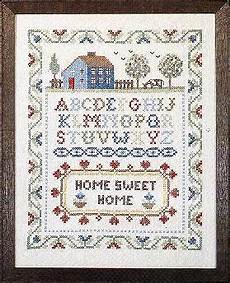 country stitching home sweet home sted cross stitch kit