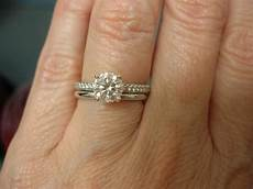 my wg plain w band with wf pave e ring in 2019 custom wedding rings big engagement rings