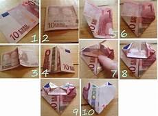 herz aus geld 10 geldschein zu einem herzen falten geld falten