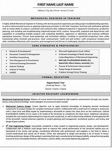 mechanical engineer resume sle template