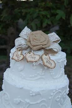 rustic cake topper burlap cake topper shabby chic cake topper custom cake topper rustic