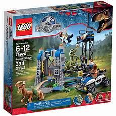 lego jurassic world raptor escape play set walmart