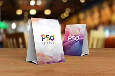tent card template photoshop free table tent card mockup psd graphics
