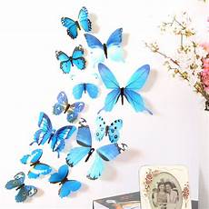 butterfly home decor selling 12pcs 3d 3d pvc magnet butterflies diy wall
