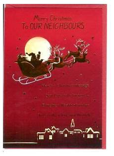 christmas neighbours english greeting cards in