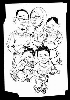 Mycartoonnizz Famili Karikatur