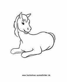 Malvorlage Liegendes Pferd Ausmalbilder Ausmalen Malvorlagen