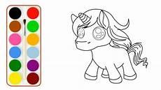 mewarnai gambar unicorn lucu