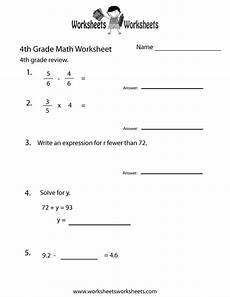 fourth grade math practice worksheet free printable educational worksheet