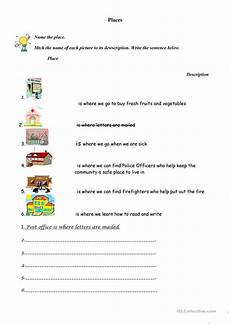 places in our community worksheets 15960 places in our community worksheet free esl printable worksheets made by teachers