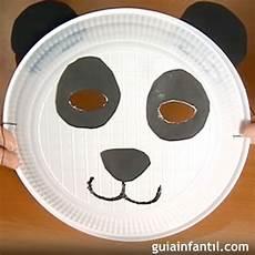 disfraz oso panda en materiales de reciclaje m 225 scaras de animales con material reciclado