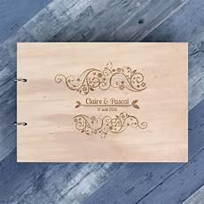 livre d or mariage grav 233 sur bois original et sur mesure