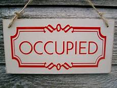 toilettenschild besetzt occupied vacant sided bathroom door sign toilet