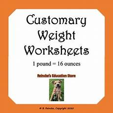 measurements worksheet for grade 4 1797 customary units of weight worksheets by reincke s education store