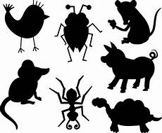 silhouette animals free stock photo domain pictures