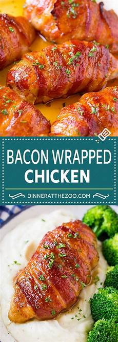 bacon wrapped chicken dinner at the zoo