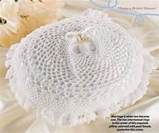 w039 crochet pattern only double wedding ring bearer pillow anniversary
