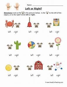 left or right worksheet 1