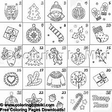 Malvorlagen Advent Calendar Advent Calendar Coloring Page 1425 Coloring By Miki