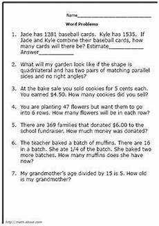 free printable word problem worksheets for 4th grade 11469 4th grade math word problems