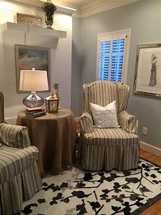 sherwin williams paint lazy gray on top and lazy gray by sherwin williams in my sitting room guest
