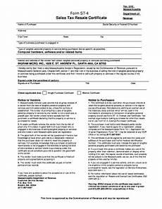 fillable online form st 4 sales tax resale certificate