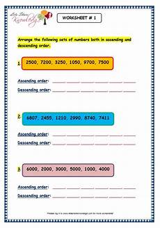 writing numbers in ascending and descending order worksheets 21206 the city school grade 3 math reinforcement worksheets
