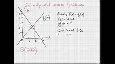 schnittpunkt zweier funktionen berechnen