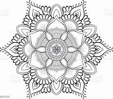 flower black mandala pattern vector illustration