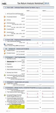 income analysis form 91