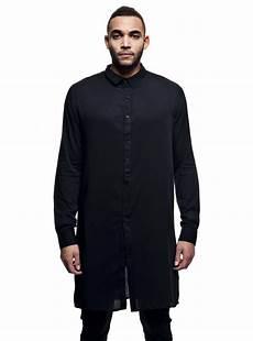 Chemise Longue Homme Noir Oversize Design Stratom