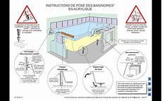 pose de baignoire pose d un baignoire acrylique r 232 gles de l page 1 sp 233 ciale salles de bains cuisines et