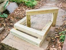 how to build outdoor wood steps how tos diy