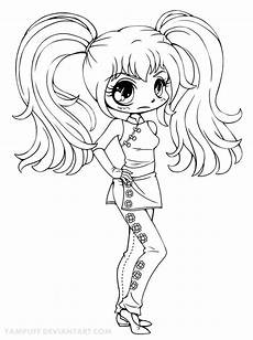 coloring pages chibi 14923 kaylayla chibi lineart commission by yuff deviantart on deviantart stempels