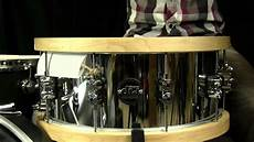 wood hoop snare dw steel performance snare with wood hoops 6 5 quot x14 quot